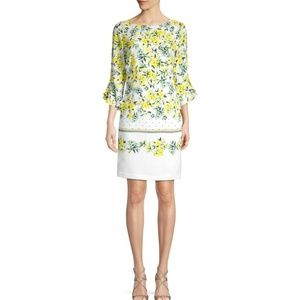 Karl Lagerfeld Yellow Flower Dress